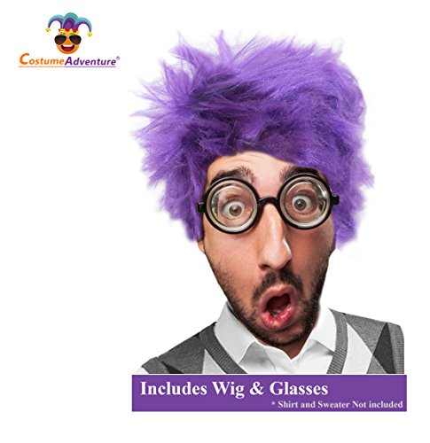 Costume Adventure Purple Wig and Glasses Costume Set - http://coolthings.us