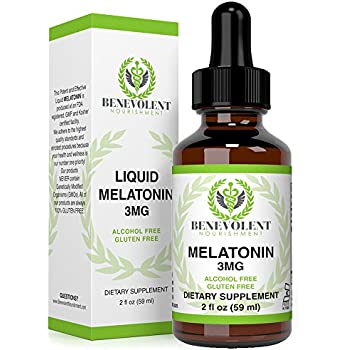 Melatonin Liquid 3mg – Raspberry and Vanilla Flavour. Effective Sublingual Drops – 100% Natural | Precise Dosage | 2X Absorption | Easy to Take.