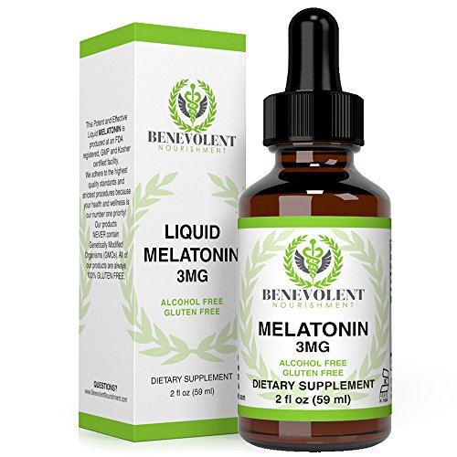 Melatonin Liquid 3mg - Raspberry and Vanilla Flavour. Effective Sublingual Drops - 100% Natural | Precise Dosage | 2X Absorption | Easy to Take. Alcohol and Gluten Free Formula for Entire Family.