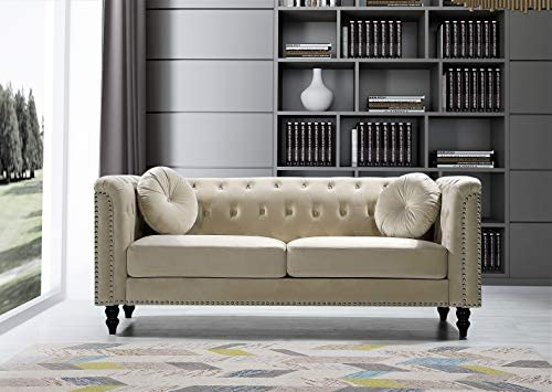 Reviewed: US Pride Furniture Connally Chesterfield 76 ' Rolled Arms Sofas