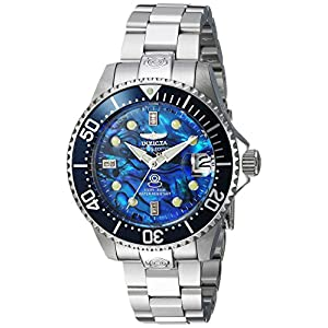 Invicta Women's Pro Diver Automatic-self-Wind Diving Watch with Stainless Steel Strap, Silver, 18 (Model: 23986)