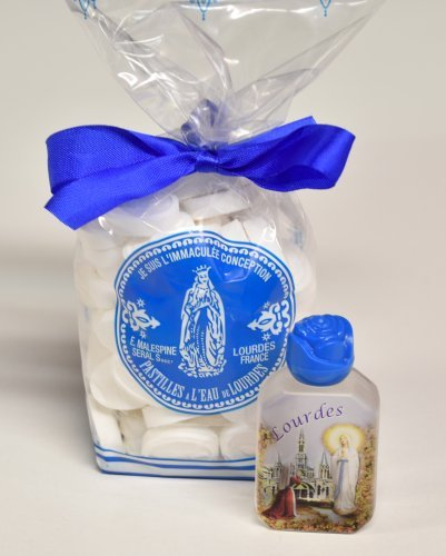 Lourdes Water Mints / Candy 200g & Lourdes Holy Water Bottle Filled - Inspirational Gifts