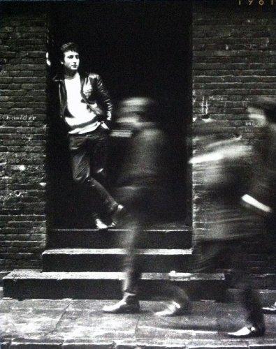John Lennon In A Doorway In Hamburg, Germany / Photograph by Jurgen Vollmer 1961 (22