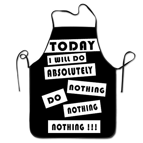Apron Chef Kitchen Cooking Apron Bib Today I Will Do Absolutely Nothing Fashion (Daydreamer Velour)