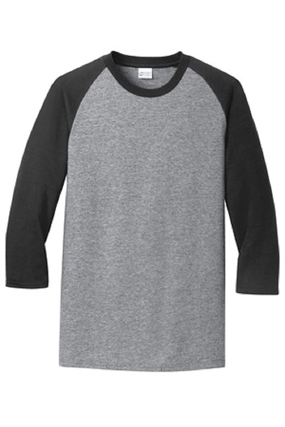 Pro tag 100 cotton 3 4 sleeve raglan baseball shirt in white black - Port Company Men S Plain Baseball 3 4 Sleeve Raglan T Shirt At Amazon Men S Clothing Store