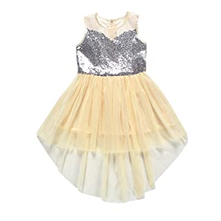 Vovotarde Ragazza Leotard Vestito da Balletto Body Dancewear Paillettes Ginnastica Danza Tutu Elegante Bambina Senza Manica Ballo Stretto