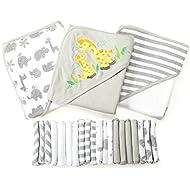 Spasilk 23-Piece Essential Baby Bath Gift Set, Grey
