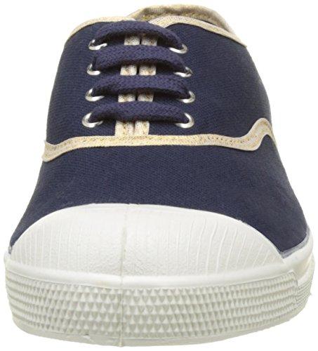 Bensimon Tennis Lacet Shinypiping - Botas Mujer azul (Marine)