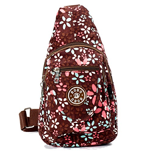Women Sling Bags Outdoor Sport Crossbody Bag Multi Functional Sling Backpack Rucksack - Brown (Small Bag Strap)