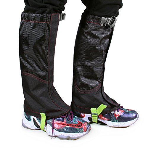 BioBio Hiking Gaiters  Snow Gaiters Camping Mountain Climbing Leg Gaiters Made of Oxford Fabric for Biking Boating Fishing Skiing Snowboarding Hiking Climbing Hunting by BioBio
