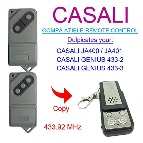 Price comparison product image CASALI JA 400/401 Gate Motor Remote Control Key Fb - Self Learning Copy Remote Replacement With Keychain Battery 12v 27A | Fix Code Clone