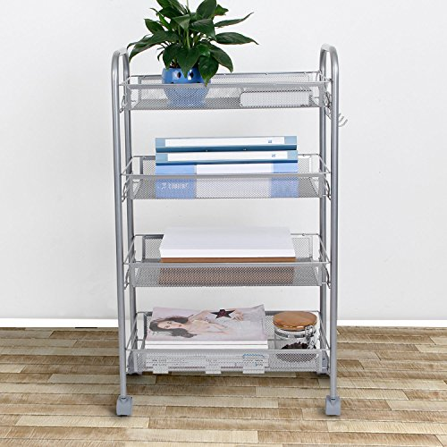 ... Rolling Mesh Storage Cart Units Premium Construction and Eco-Friendly