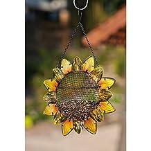 Sunflower Metal And Glass Bird Feeder