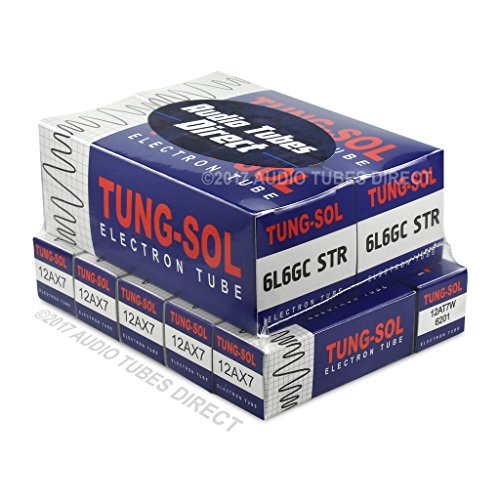 Tung-Sol Tube Upgrade Kit For Fender Custom Vibrolux Reverb Amps 6L6GCSTR 12AX7 12AT7W (No Rectifier) ()