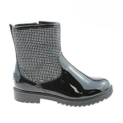 Lelli Kelly LK3400 (FB01) Patricia Nero Vernice Ankle Boots-26 (UK 8)