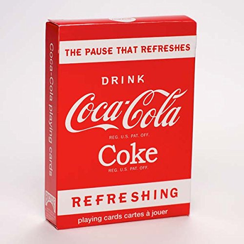 Coke (Coka Cola) Refreshing Classic Playing Cards (Bicycle Clear Playing Cards)