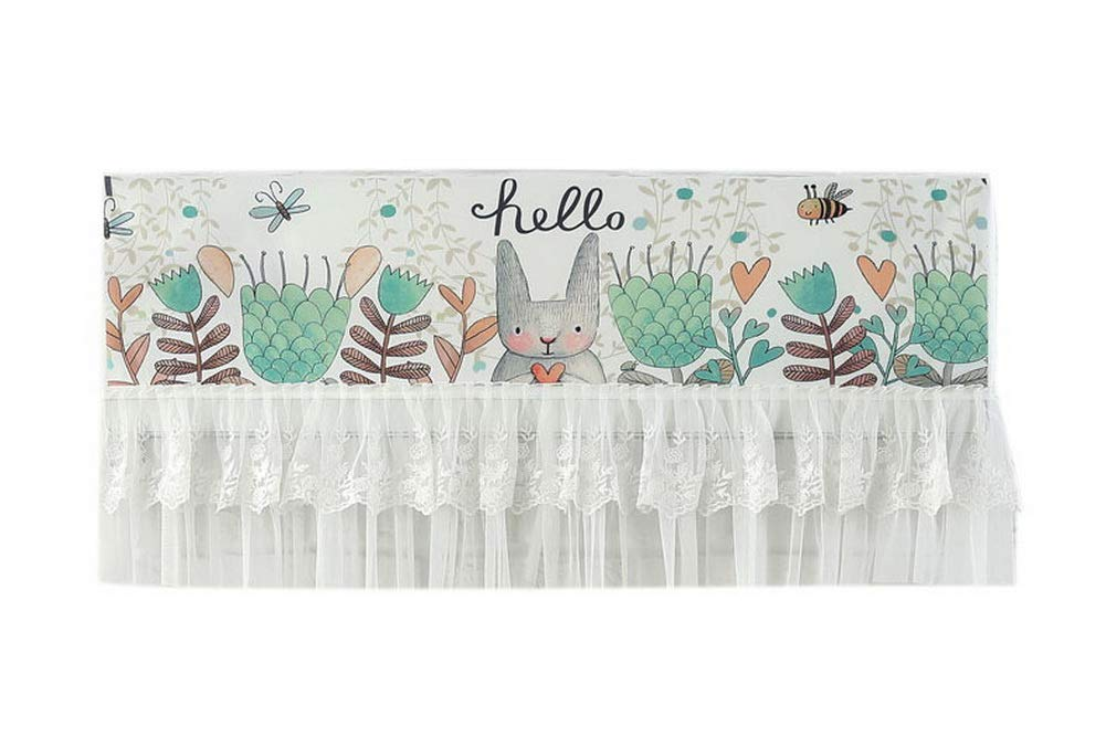 Gentle Meow Home Restaurant Dustproof Air Conditioner Cover, Flowers and Rabbit