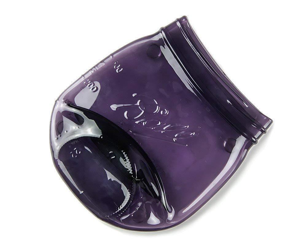 Large Melted Purple Mason Jar Spoon Rest, Vintage Style Ball Jar