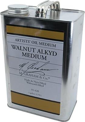 M. Graham 128-Ounce Walnut/Alkyd Medium