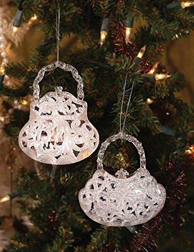 Crystalline Glitter Miss Priss Handbag Purse Christmas Ornaments (Pair) - Amazon.com: Crystalline Glitter Miss Priss Handbag Purse Christmas
