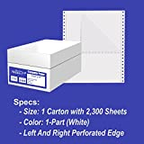Alliance Continuous Computer Paper, 9.5 x 11, Blank Clean Perforated Edge 1-Part, 92 Bright, 20 lb, Made In The