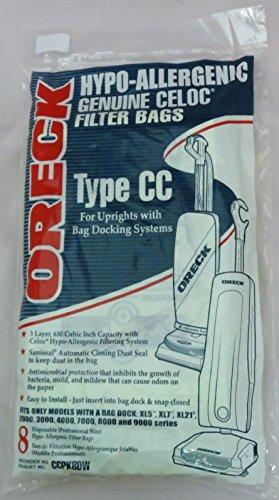 Oreck Type CC Upright Paper Bags 8PK CCPK8