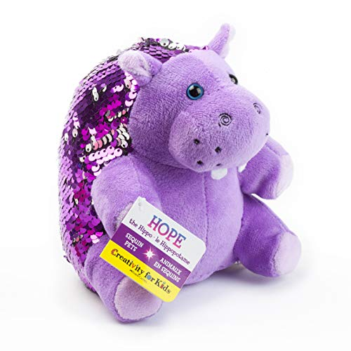 Creativity for Kids Mini Sequin Pets  - Hope The Hippo Plush -