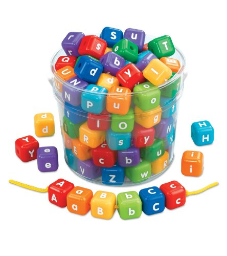Lakeshore Giant Alphabet Beads (Lowercase Lacing Letters)