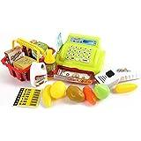 Arshiner Juguete de Caja Registradora de Similación de Supermercado Con Alimentos y Dinero