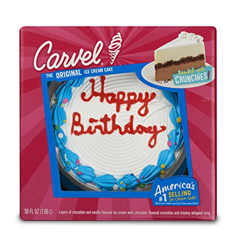 Carvel Round Ice Cream Confetti Cake Chocolate And Vanilla Crunchies Whipped Icing Serves Up To 18 People Amazon Grocery