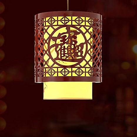 Larsue La pintura de tinta de luz colgantes chinos farolillos_bombilla LED amarillo tinta fina pintura luces colgantes: Amazon.es: Iluminación