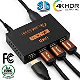 1X4 Powered V1.4 Verified HDMI Splitter Box for Full HD/4K/1080P/3D with Programmable EDID Settings