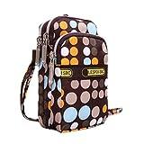 Hot Women Colorful Pattern Printing Zipper Sport Mini Wrist Purse Bag (G)