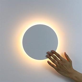 NICOLAS Aplique De Pared LED, Con Interruptor Táctil, Aplique De Pared, Iluminación De Escalera Interior, Aplique De Personalidad (Color : Warm White (2700 3500K)-White): Amazon.es: Iluminación