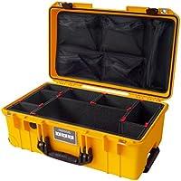 Yellow & Black Pelican Colors series 1535 Air case, with TrekPak Dividers & lid organizer.