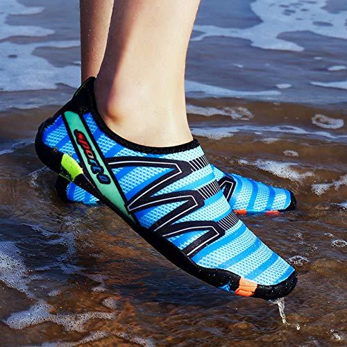 Blue Hommes Outdoor Chaussures Natation Pieds Sneaker Femmes Sport Chaussettes Aqua Pour De Plage D'eau Xlgjsx Pantoufles L'eau Pêche wXtTt