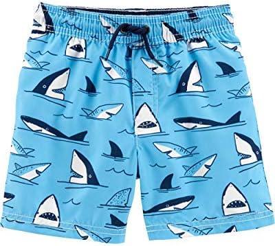 Toddler Boys' Swim Trunk Blue Sharks 5T [並行輸入品]
