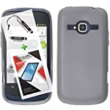 T-Mobile ZTE Concord II Case ZTE Z730 3 in 1 Bundle TPU Snap On Skin Cover Soft Case - Smoke (Free Ultra-Sensitive Stylus Pen and Premium Screen Protector by BeautyCentral TM) by Generic