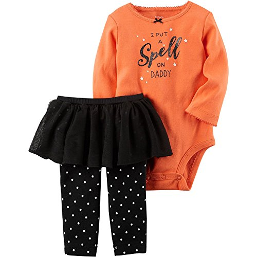 Carter's Baby Girls' 2 Piece Bodysuit And Tutu Pants Set 18 (Halloween Baby Girl Clothes)