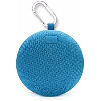 GoBass X5 OUTDOOR Bluetooth Speaker, Clip Portable Waterproof Wireless Bluetooth Speaker with 5W Output Power, 360-Degree 3D Stereo Surround Sound, BASS BOOST (Blue)