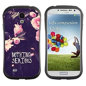 """Pulsar iFace Series Tpu silicona Carcasa Funda Case para SAMSUNG Galaxy S4 IV / i9500 / i9515 / i9505G / SGH-i337 , Motivación divertido Flores Rose"""""""
