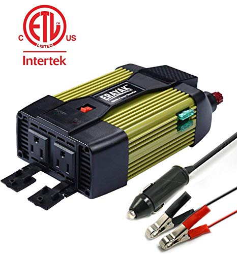 400W Car Power Inverter DC 12V to 110V AC Converter with USB Port Car Charger Adapter