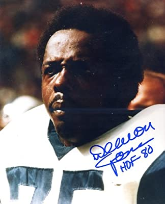 """Deacon Jones (Football HOF) Autographed/ Original Signed 8x10 Color Photo with """"HOF 80"""" Inscribed - Deacon Jones Was One of the VERY Best Defensive Players in Football History - He Played for the Los Angeles Rams, San Diego Chargers and Washington Redskin"""