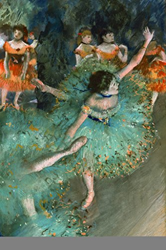 Edgar Degas The Green Dancer 1879 French Impressionist Painting Poster 12x18 inch