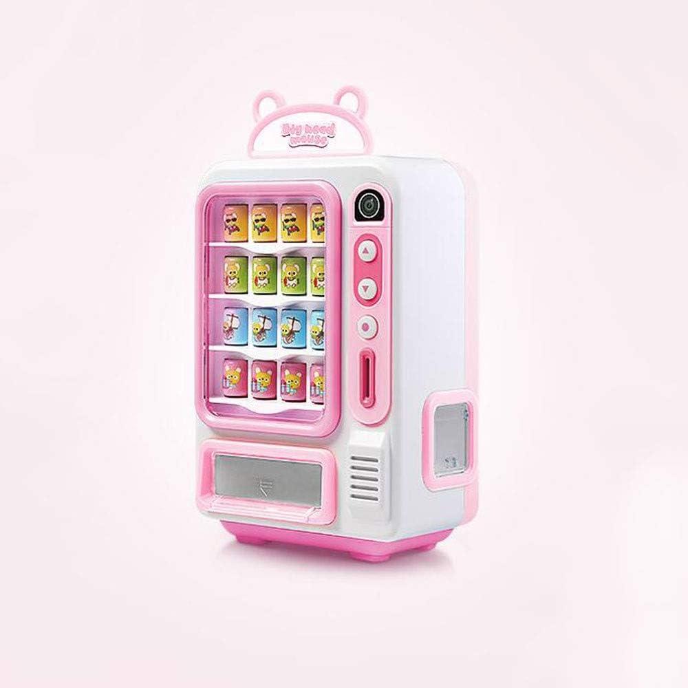 HSCW Juguete de la máquina expendedora de simulación, código de escaneo Venta de monedas Mini Máquina expendedora Juguetes para bebidas electrónicas Educación para niños Educación para niños Empresas