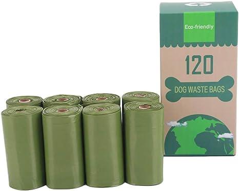 Bolsa de residuos de Perro Verde 8 Rollos de Pet Suministros Caca ...