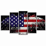 Grace Painter 5D Diamond Painting,Counted Cross Stitch,Rhinestone Painting,American Flag,Paint by Numbers for Kids Art and Craft for Wall Decor,Home Decor