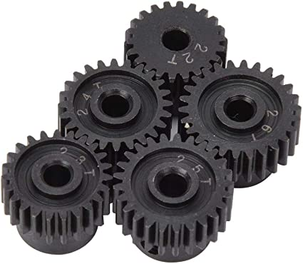 Black RC Motor Gears 48P Pinion Gear Set 22T 23T 24T 25T 26T for 1//10 RC Car Model Accessory