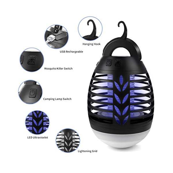 TDW - Lampada repellente per zanzare elettrica con presa USB, per campeggio, attività all'aria aperta, con luce per… 2 spesavip