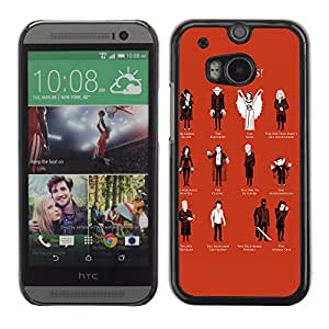 CaseLord Carcasa Funda Case - HTC One M8 / Cool Vampire Types /